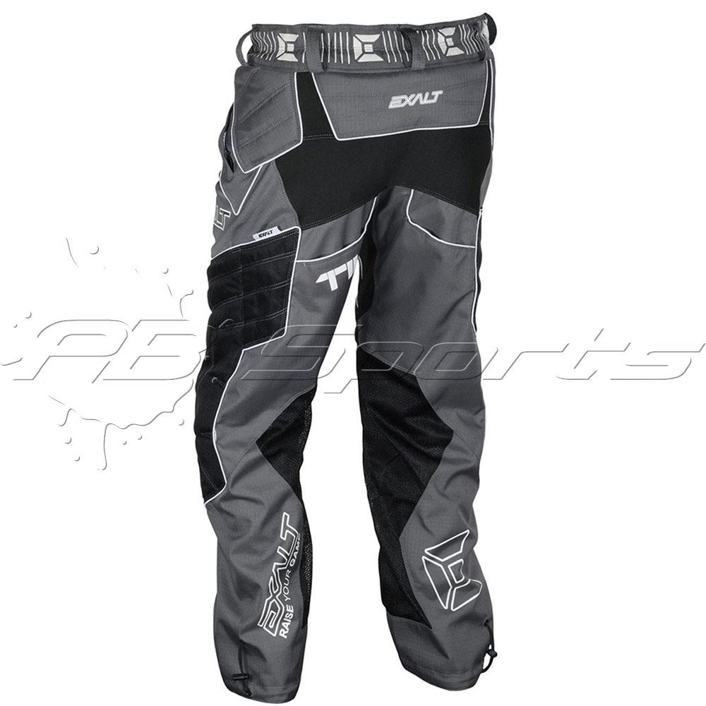 Exalt Thrasher T4 Paintball Pants Charcoal White 4 Flex NEW Free Shipping Large